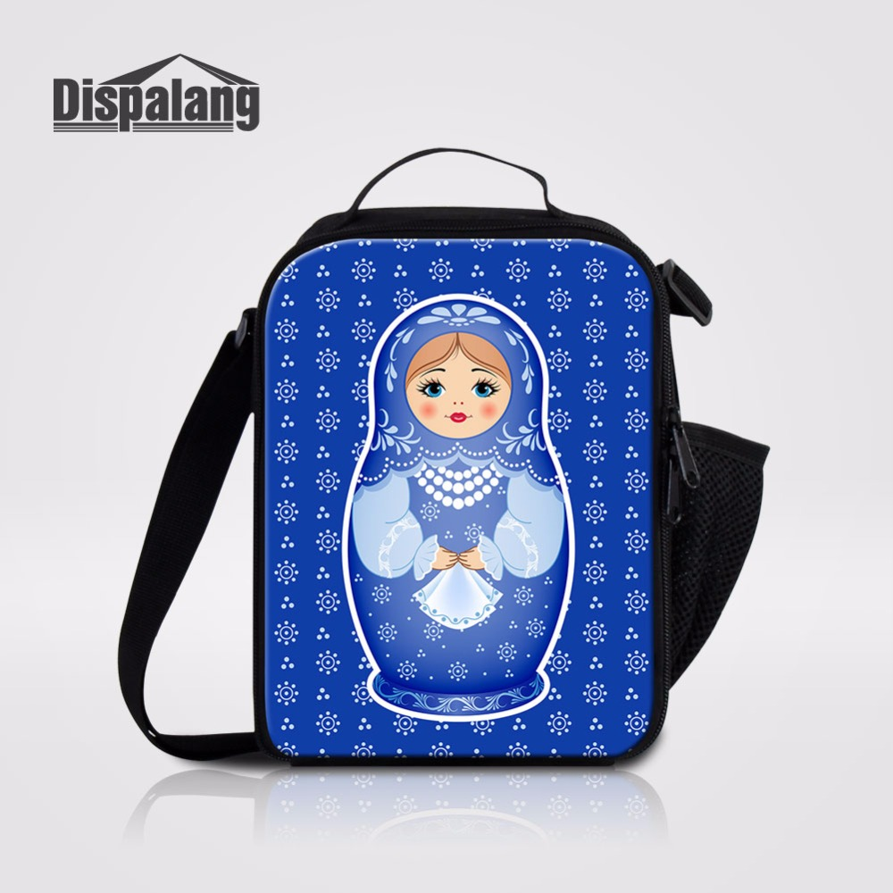 Matryona Matryoshka Doll Pattern Lunch Bags For Students Thermal Insulated Cooler Bag For Girls Portable School Food Lunch Box