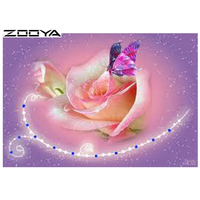 ZOOYA Diy Diamond Painting 5D Round Full Diamond Cross Stitch Embroidery Diamond Mosaic Embroidery Needlework Floral