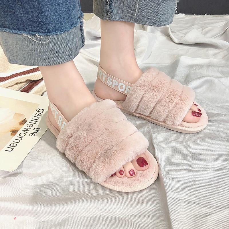 COOTELILI Frauen Hause Hausschuhe Winter Warme Schuhe Frau Slip auf Wohnungen Rutschen Weibliche Faux Fell Hausschuhe Frauen Schuhe 36- 41 großhandel