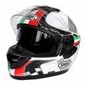 (1 unid y 6 colores) la Aprobación DEL DOT Marca Shoei Gt-air Lente Doble casco de Moto Casco de Carreras de Motor Cara llena Cascos Capacete Casco Casque