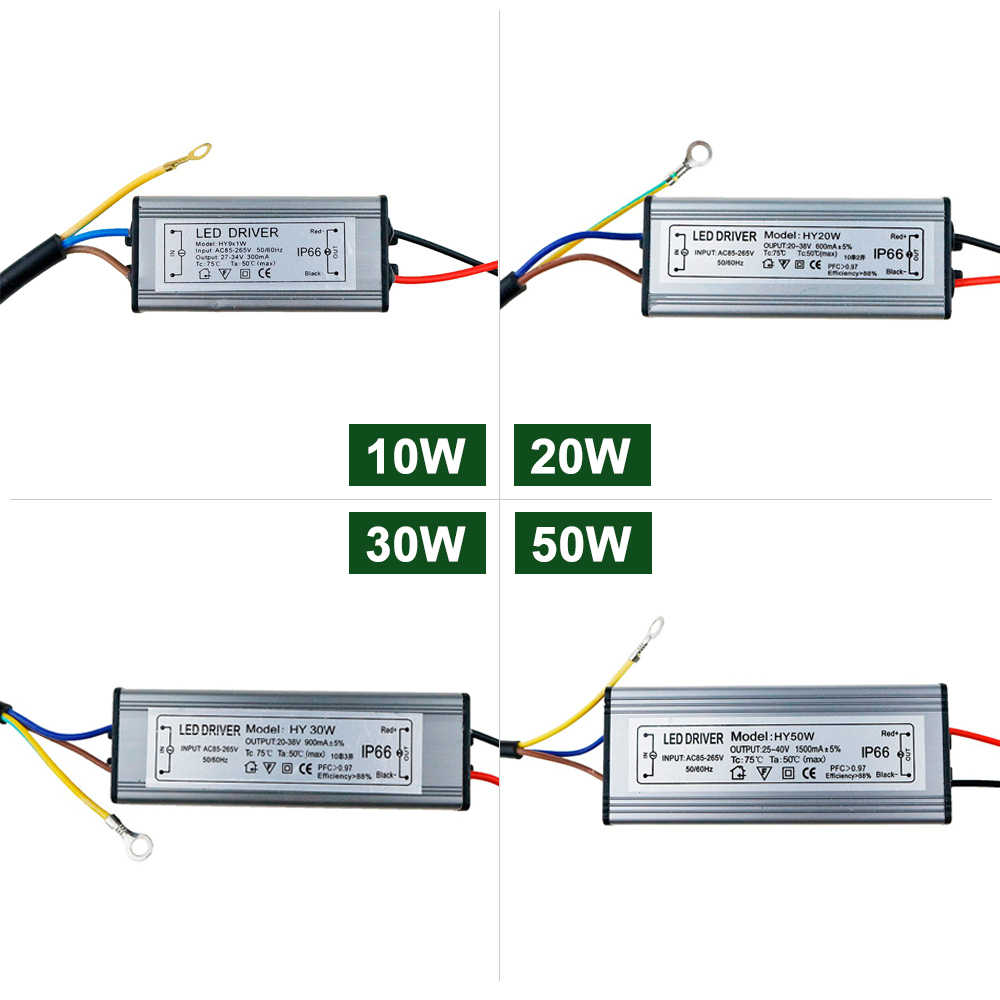 LED Driver 10W20W 30W 50W Power Supply 24V DC 20-40V Pencahayaan Transformator untuk LED lampu Lampu Sorot 300mA 600mA 900mA 1500mA JQ