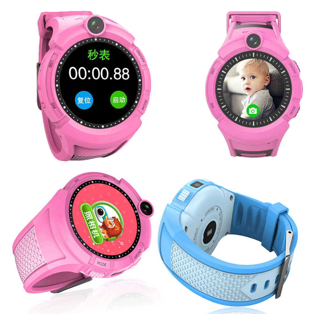 Q360 Kids Round Screen Smart Watch with Camera GPS WIFI Location Child smartwatch SOS Anti-Lost Monitor Tracker baby WristWatch zdk q360 pink