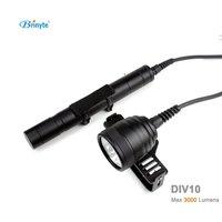 DIV10 LED Diving Light CREE XML2 3000lm LED Scuba Diving Torch Flashlight 200M Underwater Lamp