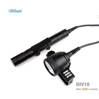 DIV10 LED Diving Light CREE XML2 3000lm LED Scuba Diving Torch Flashlight 200M Underwater Lamp