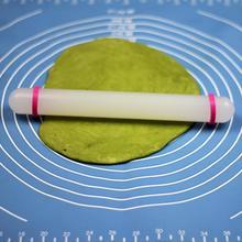 Plastic White Non-stick Glide Fondant Rolling Pin Cake Dough Roller Decorating