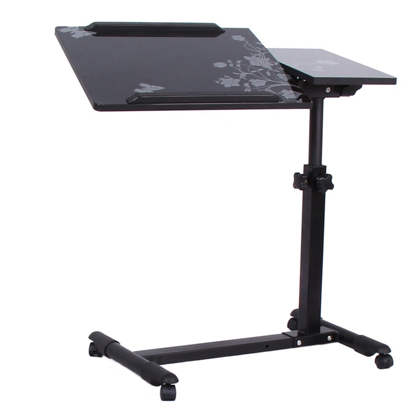 DG#7088 Household bedside rotary tilt adjustment mobile college dormitory European metal notebook comter desk FREE SHIPPING bsdt and one hundred million to reach the notebook comter office desktop home simple mobile learning desk free shipping