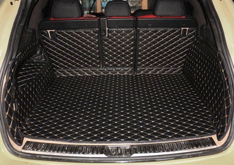 Buona! Tappeti bagagliaio di un'auto speciale per Porsche Cayenne 958 2017-2010 resistente boot tappeti cargo liner per Cayenne 2016, trasporto libero