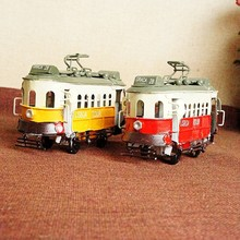 Modern Bus Model Metal Crafts Exquisite Workmanship Home Bus Figurine Miniatures Birthday Toy Gifts For Children Creative Crafts(China)