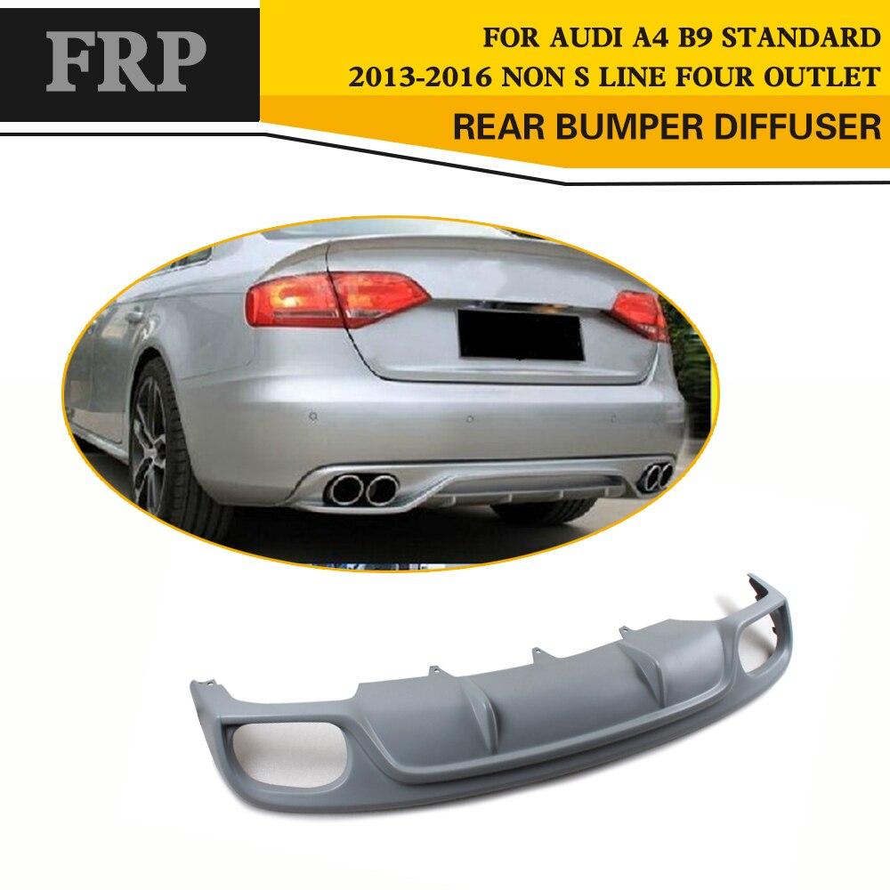 Car Style FRP Car rear lip rear bumper diffuser car side lip for Audi A4 B9 A4 B9 Standard Bumper 2013