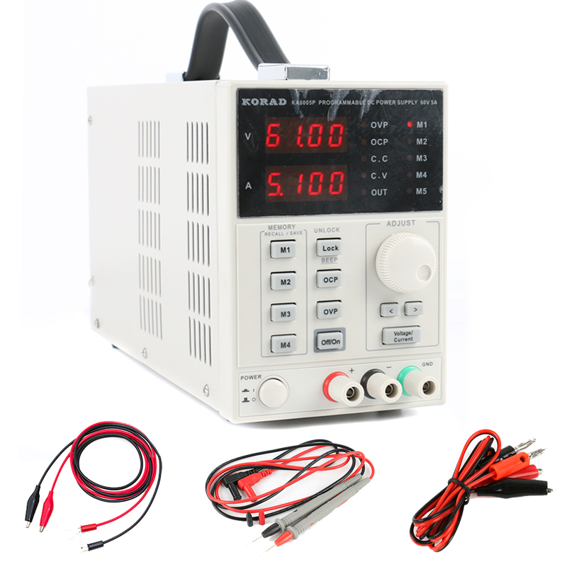 KORAD KA6005P High Precision Programmable Linear Lab Adjustable Digital DC POWER SUPPLY 60V 5A R232 and USB Interface 220V rps6005c 2 dc power supply 4 digital display high precision dc voltage supply 60v 5a linear power supply maintenance