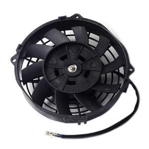"Image 2 - SPEEDWOW Universal 7"" Motor Engine Radiator Oil Cooler Cooling Electric Pull Push Fan Radiator Engine Cooling Fan 12V 80W"
