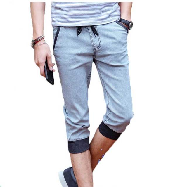 3e2fe51945f5b7 Hot Sale Summer Fashion Men s Casual Shorts Tapered Slim Leg Jogger Short  Pants Men Drawstring Waist