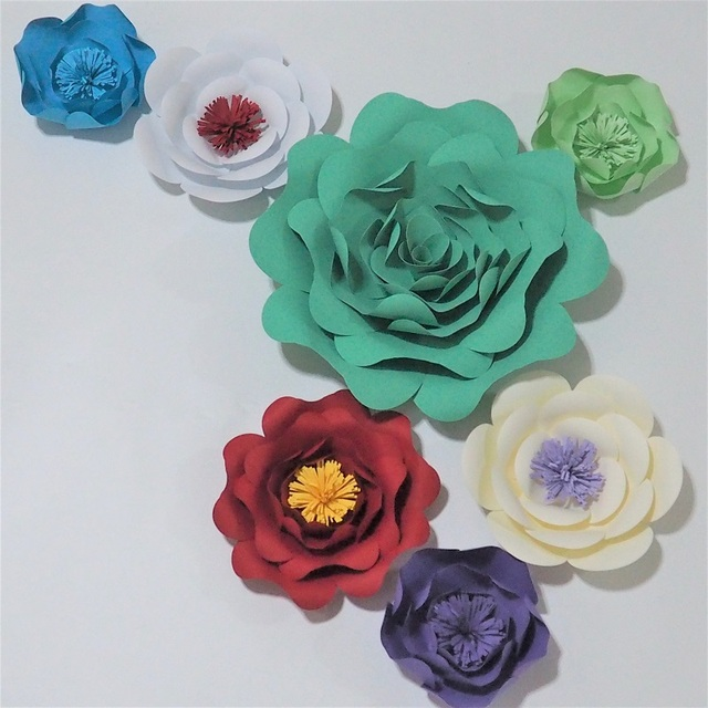 Us 58 65 15 Off Handcrafted Large Giant Paper Flowers Hanging Flower For Baby Shower Nursery Decorations Kid S Birthday Party Decor 33 Options In