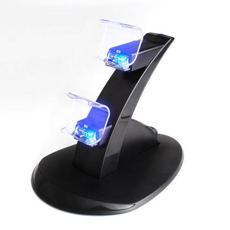 Game Controller Charger Dock Station Charging Stand Dual GamePad Joystick Power Supply Charge Holder for PlayStation 4 PS4