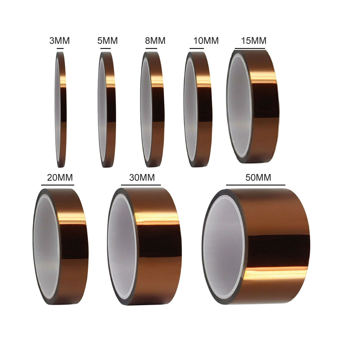 33M High Temperature Heat Tape Thermal Insulation Tape Polyimide Adhesive Insulating Adhesive Tape 3D Printing Board Protection