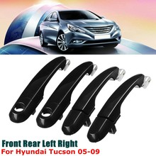 Car Stylings Front Rear Right Left Black Exterior Outside Door Handle for Hyundai Tucson 2005 2006 2007 2008 2009(China)