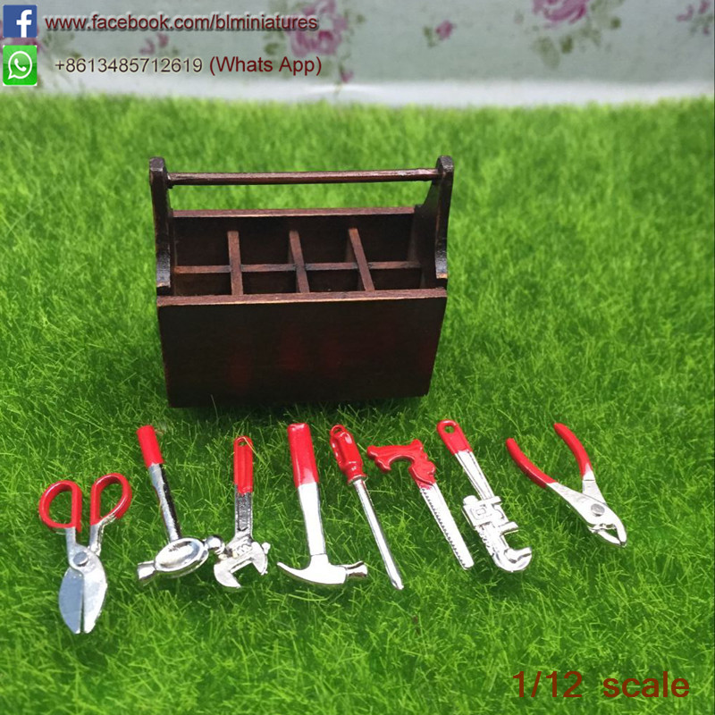 Sensational One Inch Scale Dollhouse Toolbox With Tools Set 9 Hardware Creativecarmelina Interior Chair Design Creativecarmelinacom