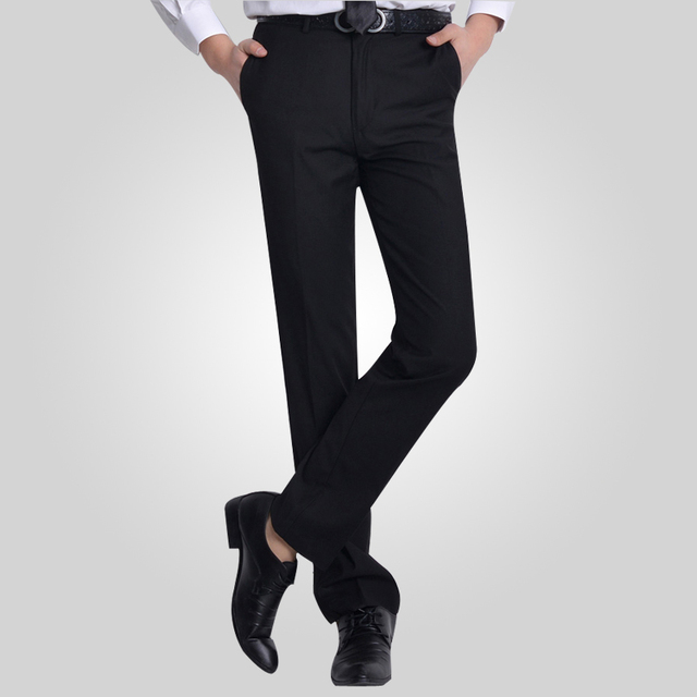 a97be1dbbe Mens trousers Formal black Wedding Men Suit Pants Fashion Slim Fit Casual  Business Straight Dress Trousers high quality 38-in Suit Pants from Men's  ...