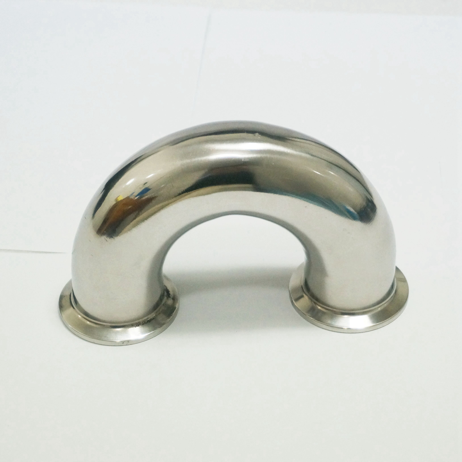 38mm O/D 1.5 Tri Clamp 304 Stainless Steel Sanitary 180 Degree Return Bend Three Clover Pipe Fitting  For Homebrew