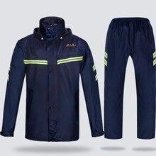 Outdoor Raincoat Parka Men Jacket Motorcycle Mens Rain Pants Coats Waterproof Suit Hat Gabardina Hombre Adult 50KO168