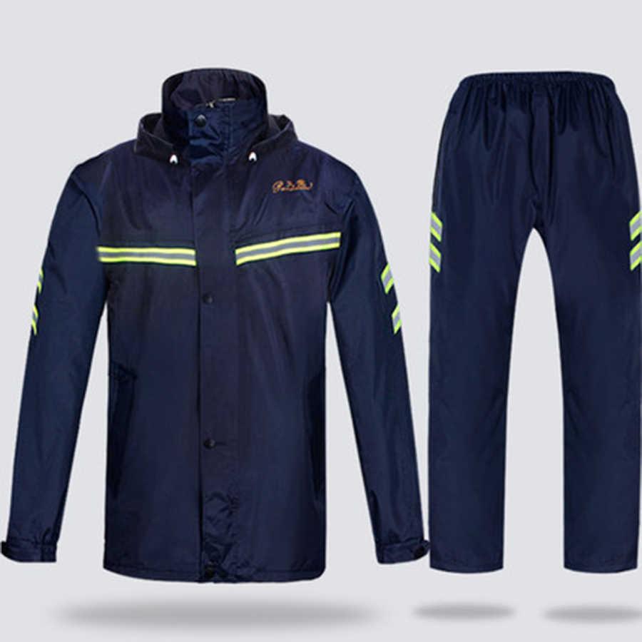Открытый плащ-Парка мужская куртка мотоциклетная Мужская s непромокаемые брюки пальто водонепроницаемый костюм шляпа Gabardina Hombre плащ для взрослых 50KO168