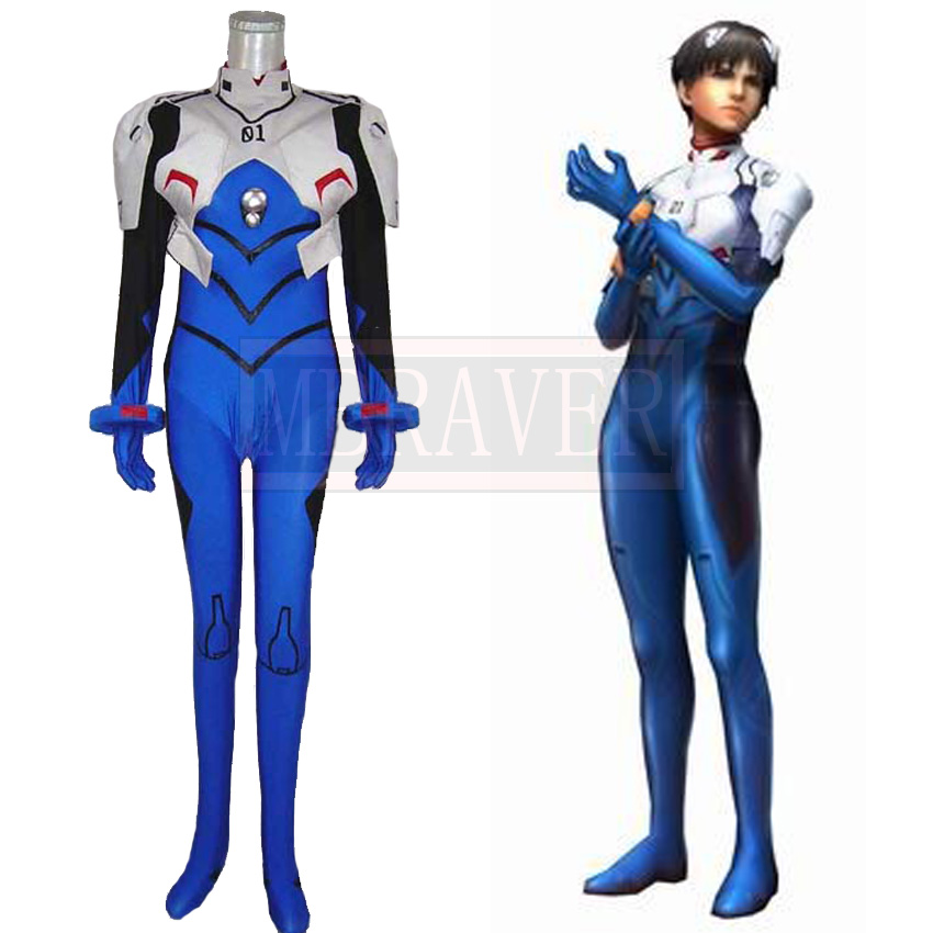 Neon Genesis Evangelion Ikari Shinji EVA-01 Test Type Meisters Uniform Cosplay Costume Custom Made Any Size neon genesis evangelion the shinji ikari raising project omnibus volume 2