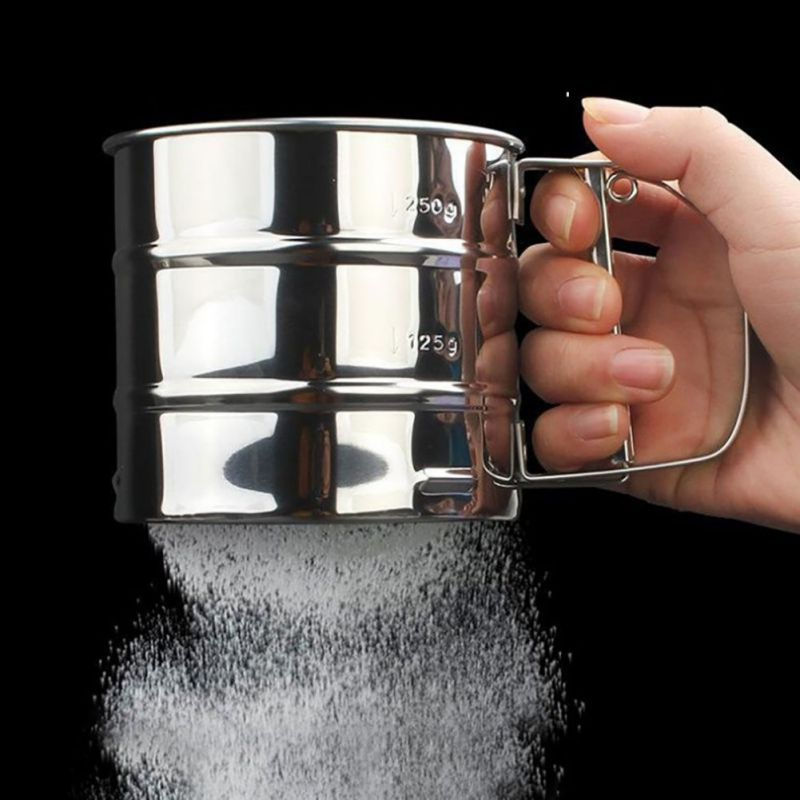 Stainless Steel Fine Mesh Flour Sifter Strainers Fine Sieve Hand Held Strainer Colander Baking Icing Sugar Shaker Pastry Tools
