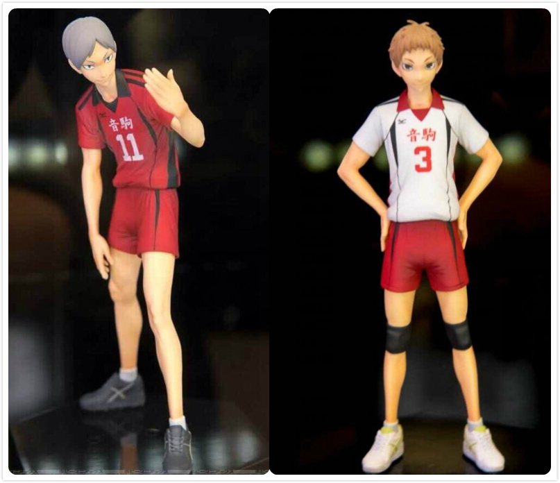 15cm-16cm 2pcs/lot Japanese anime figure haikyuu action figure kids toys for girls 6pcs lot haikyuu silicone mobile phone charms action figure anime cell phone strap charm