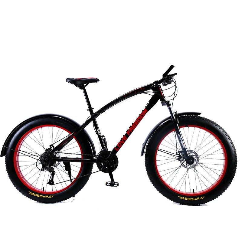 Amor libertad 7/21/24/27 velocidad bicicleta de montaña 26*4,0 neumáticos de grasa amortiguadores bicicleta entrega gratuita nieve bicicleta - 3
