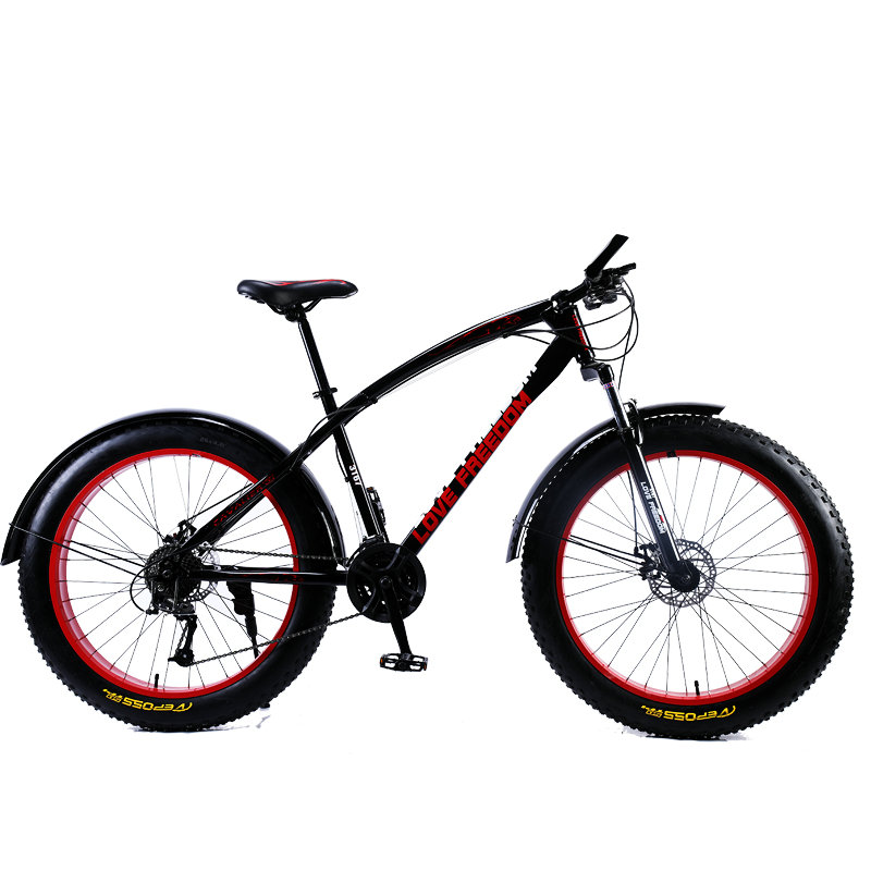 Love Freedom 7 21 24 27 Speed Mountain Bike 26 4 0 Fat Tire Bikes Shock Love Freedom 7/21/24/27 Speed Mountain Bike 26 * 4.0 Fat Tire Bikes Shock Absorbers Bicycle Free Delivery Snow Bike
