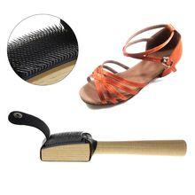 OOTDTY деревянная замша подошва провода очистители танцевальная обувь щетка для чистки обуви