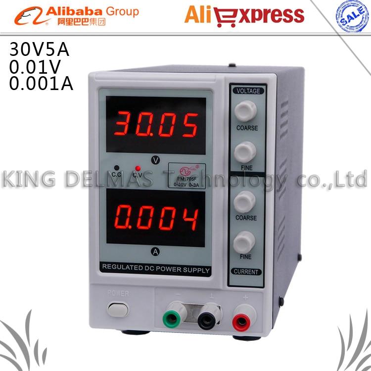 Display Adjustable Linear DC Power Supply 0~30V 0~5A 0.01V/0.001A DC Voltage Regulators Power Supply 220V cps 6011 60v 11a digital adjustable dc power supply laboratory power supply cps6011