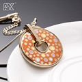R&X New fashion Enamel Vintage Necklace Earrings Chain Leaves Pendant Jewelry  For Woman Wedding Jewelry   Exempt Postage