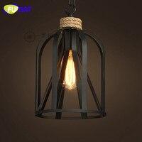 Фумат черный ретро подвесная панель освещения магазин одежды Подвесные Лампы Освещение для дома столовая лампа кухонные подвесные светиль