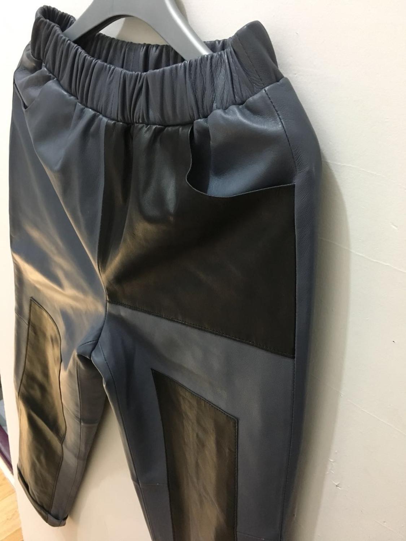 M XL taille élastique véritable mouton en cuir moto pantalon femme marque de mode hit couleur en cuir véritable pantalon wq852 livraison directe - 6