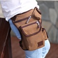 High Quality Men Canvas Leg Bag Drop Waist Fanny Riding Motorcycle Ride Travel Vintage Famous Brand Male Belt Hip Bum Pack New