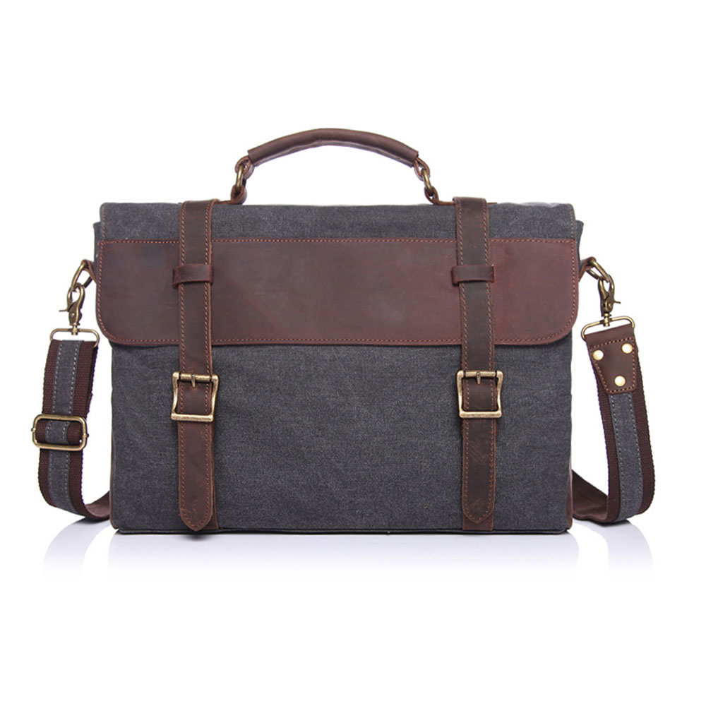 ФОТО Fashion Famous Brand Men Business Belt Canvas Shoulder Bags Quality Durable Handbags Travel Work Totes Bags Business Briefcase