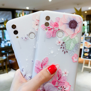 Image 4 - EIRMEON Case For Huawei P Smart 2019 3D Relief Floral Cases For Huawei Mate 10 Mate 20 Pro Honor 10 Lite Frosted TPU Phone Cover