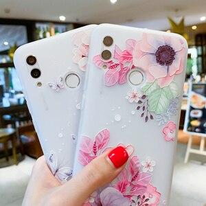 Image 4 - EIRMEON para Huawei P Smart 2019 3D alivio fundas florales para Huawei Mate 10 Mate 20 Pro Honor 10 Lite esmerilado TPU cubierta del teléfono