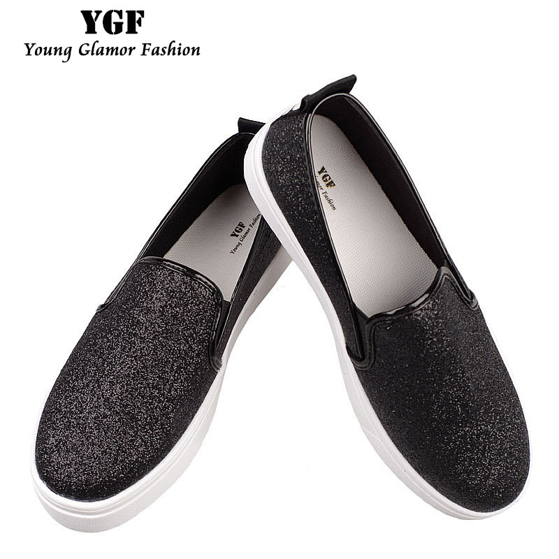 YGF Platform Loafers Women Flats Spring Autumn Casual Shoes Slip on Canvas Women Comfortable Round Toe Flat Loafer Shoes 7ipupas hot selling fashion women shoes women casual shoes comfortable damping eva soles flat platform shoe for all season flats