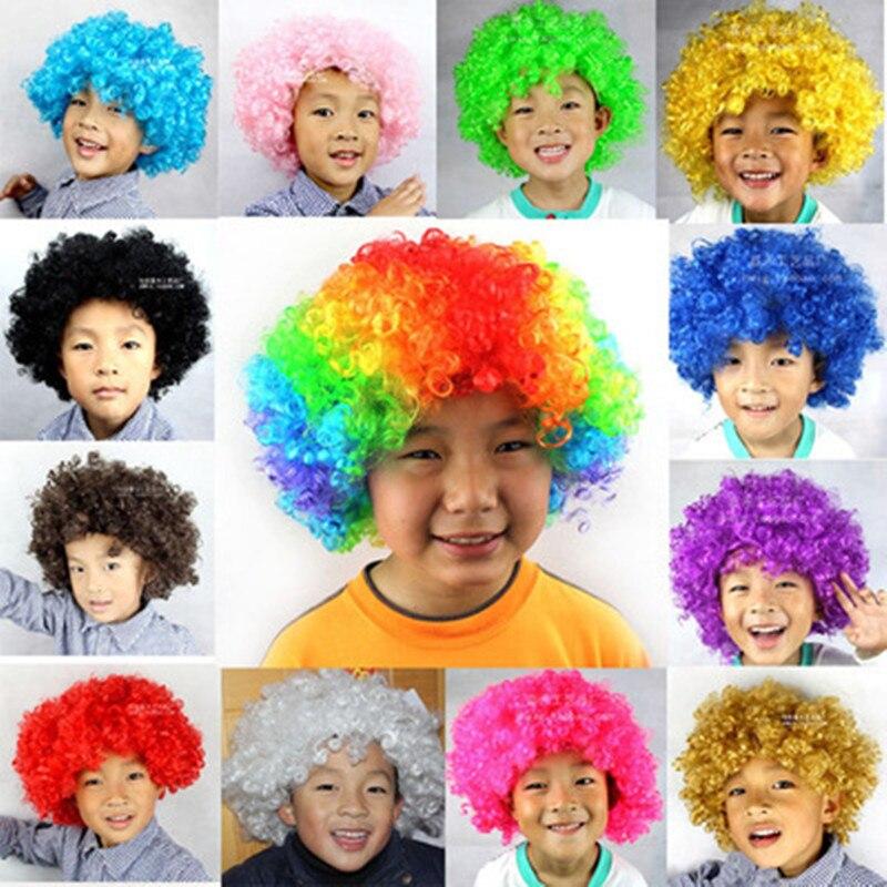 Halloween Grand Badut Pesta Acara Tampilkan Curly Sintetis Rambut Wig  Masquerade Dewasa Pesta Cosplay Kostum Penggemar 06c2b2c98b