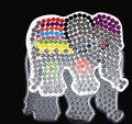 12 Unidades PegBoards para 5mm Perler Beads Hama Beads Fundió los Patrones Claro Tablero de Clavija brinquedo Juguetes