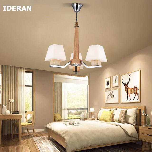 Hanglampen slaapkamer hout lampen E27 Lamp indoor Home verlichting ...