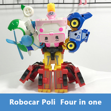 New Robocar Poli Korea car kids 4 in 1Transformation Anime Action Figure Robot Toys Best Gifts For Children Playmobil playmobil figure knight war horse action figures kids best toys gift