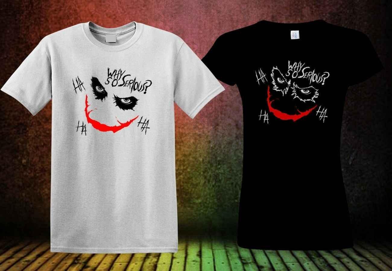 Новый джокер футболка с рисунком COMIC цвет черный и белый мужские и рубашка по мотивам фильма