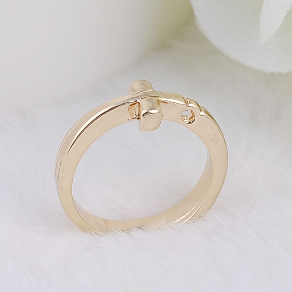 Charm Rings Gold Plate Cross Alloy Ring in Rings from Jewelry Accessories