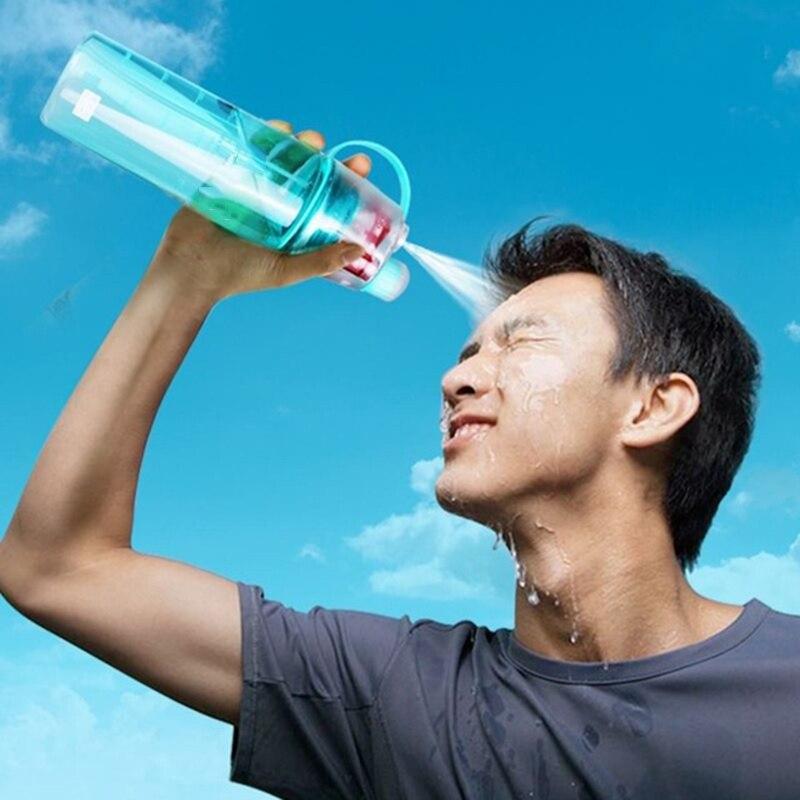 Mi regalo de Navidad 600ML aerosol original deportes botella de agua profesional botella deportiva para deportes al aire libre gimnasio rociar deportes de agua