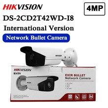 W magazynie DS 2CD2T42WD I8 angielska wersja 4MP EXIR Network Bullet kamera bezpieczeństwa IP POE, 80m IR, szeroki zakres dynamiki 120dB