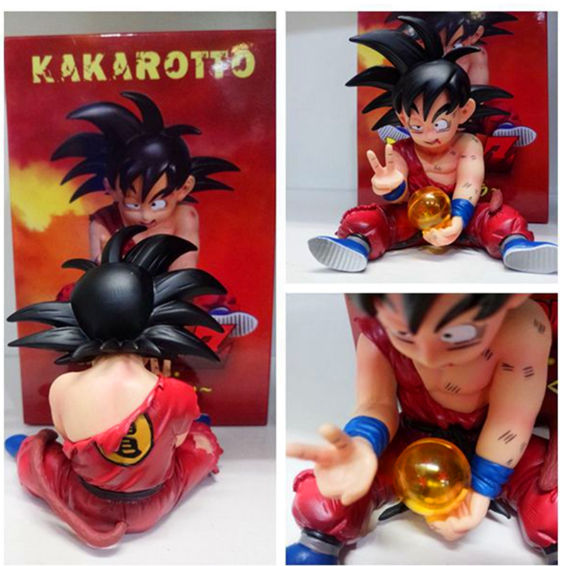 10CM Dragon Ball Battle Damage Son GoKu with Ball Figurine Toys PVC Action Figure Collection Model Toy Anime Model H57710CM Dragon Ball Battle Damage Son GoKu with Ball Figurine Toys PVC Action Figure Collection Model Toy Anime Model H577