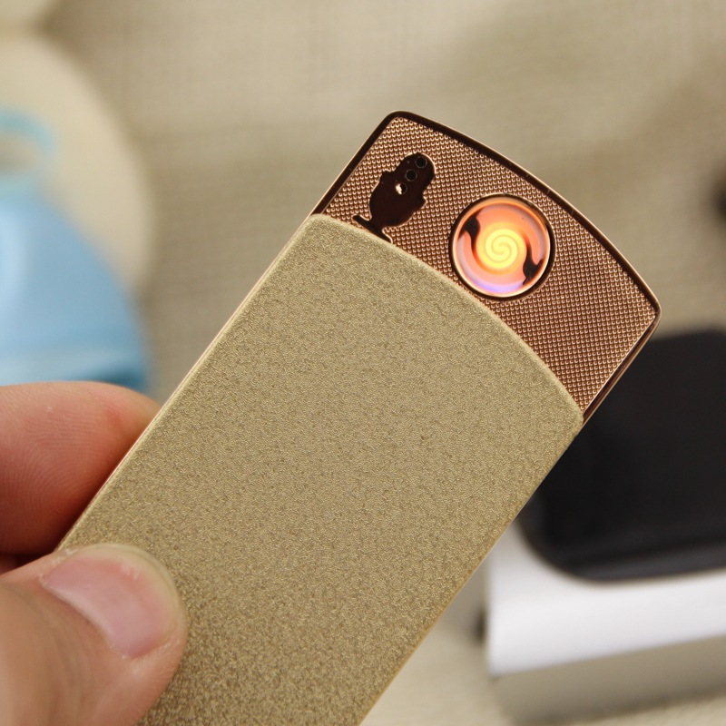 Arc induction charging lighter shake creative metal usb electronic cigarette lighter wholesale custom
